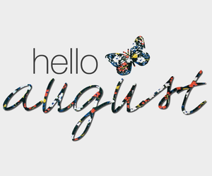 August, hello, and butterfly image