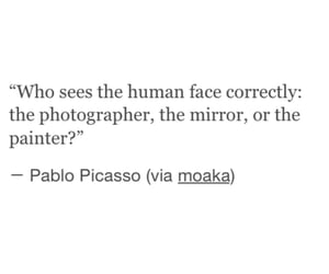 quotes, mirror, and human image
