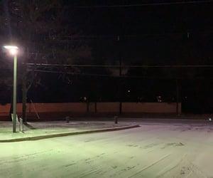 dark, night, and snow image