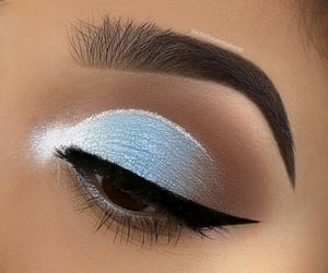 blue, glitter, and makeup image