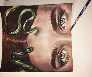 medusa, art, and painting image