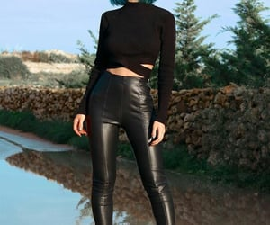 black, bluehair, and fashion image