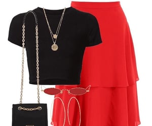 black, jewelry, and purse image