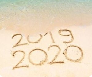 2020, beach, and new year image
