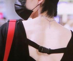 back, earrings, and emo image