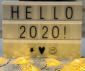 2020, decor, and fairy lights image