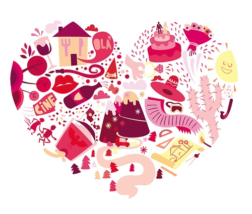 heart, illustration, and pink image