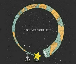 wallpaper, stars, and discover image
