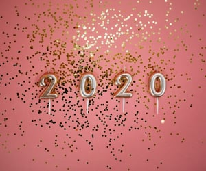 2020, new year, and pink image