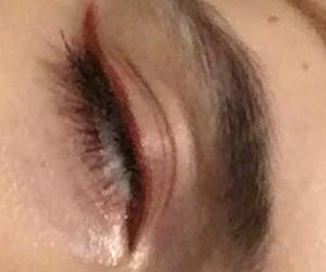 eye, eyeliner, and girl image