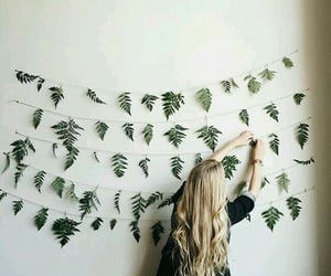 girl, hair, and decor image