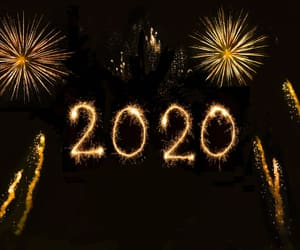2020, happy new year, and holidays image