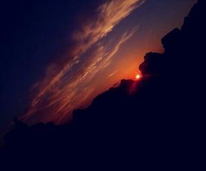 beautiful, sunset, and view image