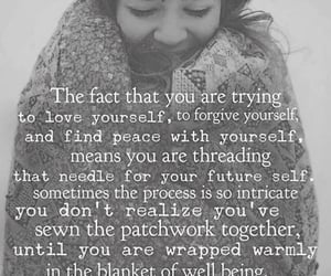forgive yourself, finding peace, and love yourself image