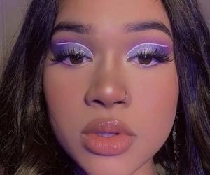 purple, eyeshadow, and lips image