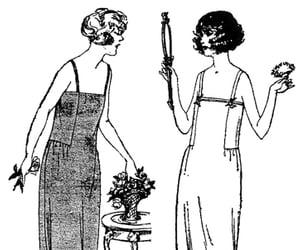 1923, ladies, and pattern image