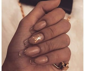 clear nails and lv nails image