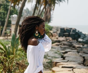 black woman, pretty, and vacation image