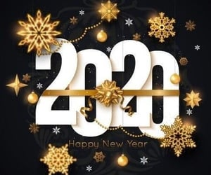 happy new year, welcome 2020, and merry christmas image