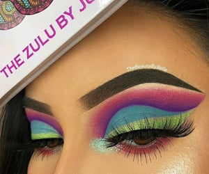 beauty, colorful, and eyebrows image