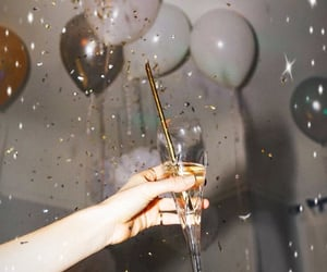 balloons, champagne, and party image