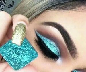 make up, eyes make up, and lashes image