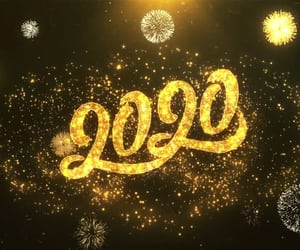 2020, fireworks, and happy new year image