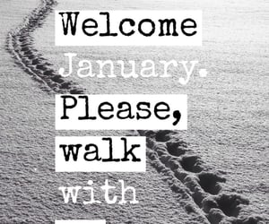 background, january, and welcome january image