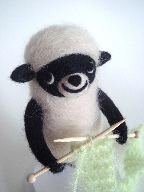 doll, wool, and felting image