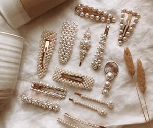 pearls, accessories, and beauty image