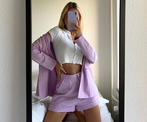 fashion, lilac, and model image