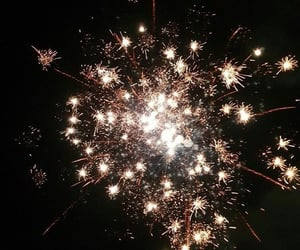 fireworks, happy new year, and lights image
