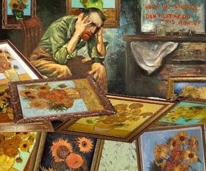 art, van gogh, and paint image
