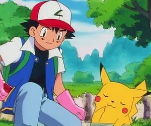 anime, ash, and pokemon image
