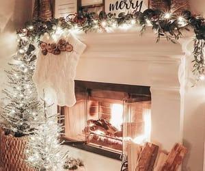 christmas, fireplace, and socks image
