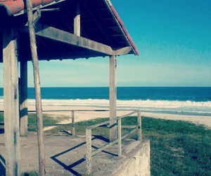 beach, blue, and brasil image