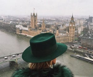 london, city, and hat image
