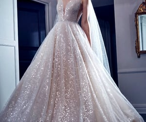 ball gown, beautiful dress, and bridal gown image