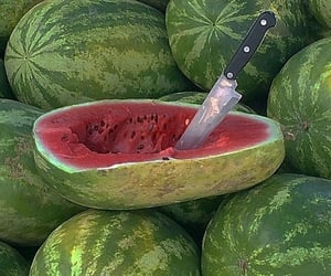fruit, knife, and summer image