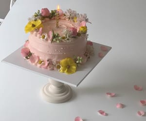 aesthetic, cake, and flowers image