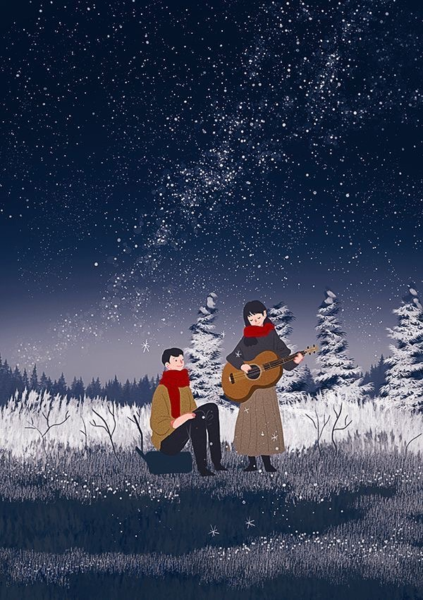 aesthetics, snow, and winter image
