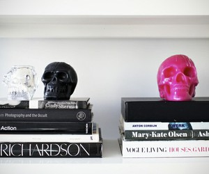 skull, book, and inspiration image