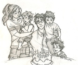 harry potter, potter, and family image