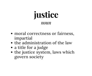 definition, justice, and dictionary image