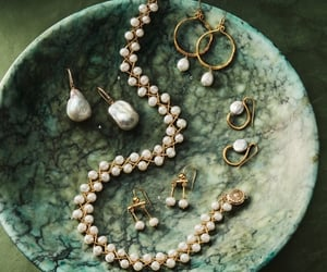 green and pearls image