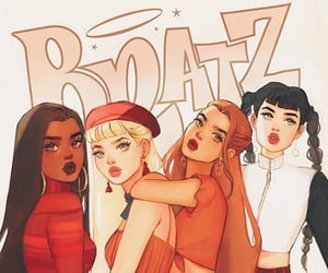 art, bratz, and dolls image