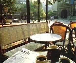 coffee, cafe, and paris image