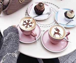 coffee, winter, and food image