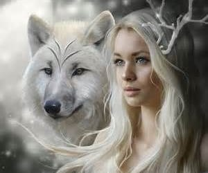 wolf, fantasy, and white image