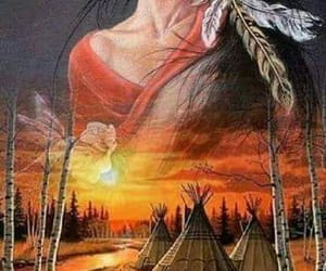 feathers, indians, and spirit image